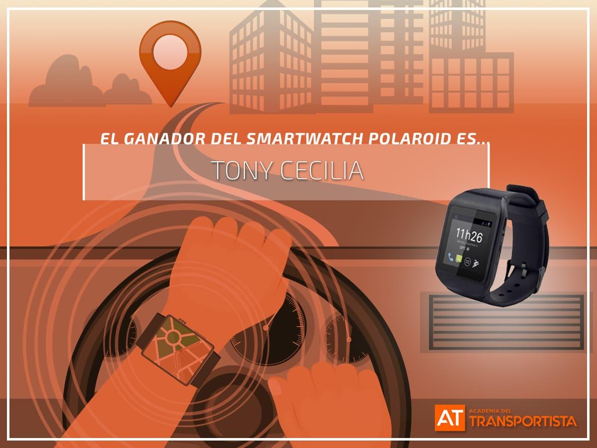 Ganador SmartWatch Academi del transportista
