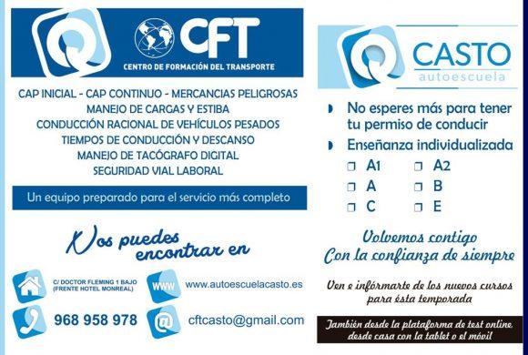 CFT Centro de Formación del Transportista- Autoescuela CASTO - Autoescuela - Jumilla