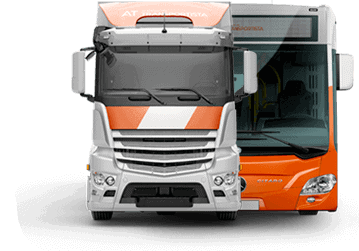 camion frontal bus footer - academia del transportista